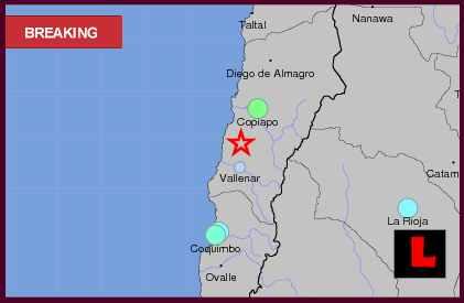 Chile Earthquake Today 2013, Terremoto Strikes Near Copiapo