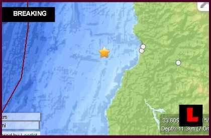 Earthquake Today 2014 in Chile: Terremoto Strikes San Antonio