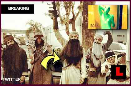 Chris Brown Halloween Costume 2012 as Taliban Terrorist Prompts Mom's Praise