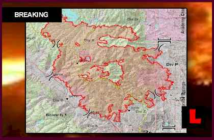 Colorado Springs Fire Map 2012 Spreads as Waldo Canyon Wildfires 2012 Strikes Academy