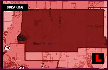 Colorado Springs Fire Map 2013: Colorado  Wildfires map 2013 Burn 100 Homes