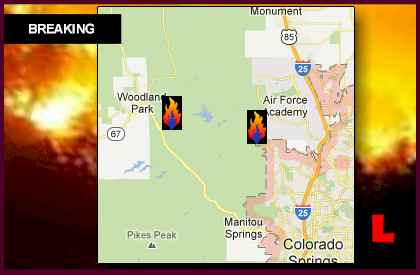 Colorado Springs Wildfires Map 2012 Grows, Waldo Canyon Fire Jumps Perimeter