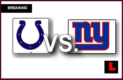 Colts vs. Giants 2013: Brown Scores Early Field Goal Tonight live score results