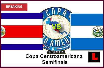 en vivo live score Costa Rica vs. El Salvador 2013 Advances to Copa Centroamericana Semifinals