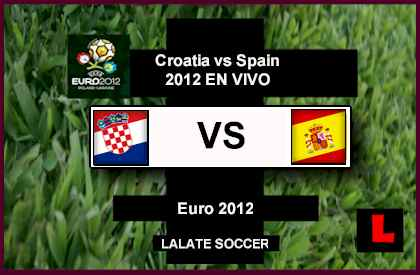 Croatia vs Spain 2012 Battle in Group C Euro Showdown