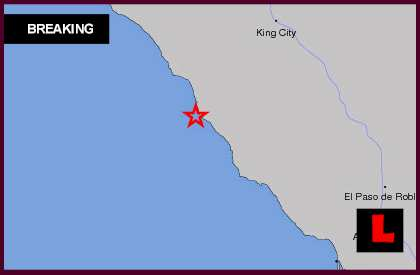 Earthquake Today 2014 Strikes California, San Simeon