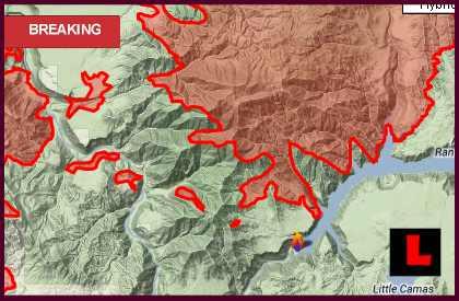 Elk Complex Fire Map 2013: Idaho Wildfire Evacuates Prairie