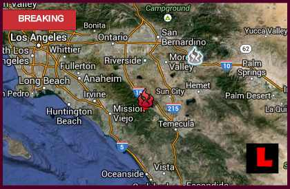 Falls Fire Map 2013 Improves: Lake Elsinore Fire Halted in Riverside