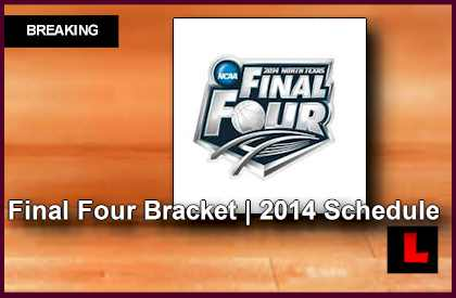 Final Four Bracket 2014 Schedule: Wisconsin Reaches April 5, 2014 4/5/14 printable college basketball ncaa l