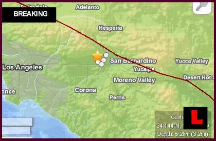 Fontana Earthquake Today 2014 Strikes Southern California
