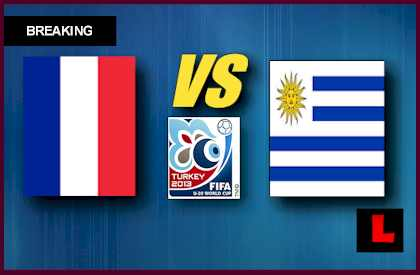 France vs. Uruguay U20 2013 Copa Mundial Prompts Finals Showdown en vivo live score results today world cup