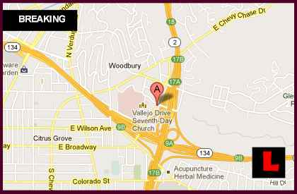 Glendale Fire 2013 Map Today Hits Harvey Road, Chevy Chase Canyonl