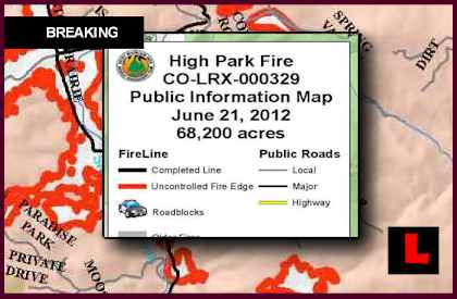 High Park Fire Map Prompts Colorado Wildfires New Concerns Today
