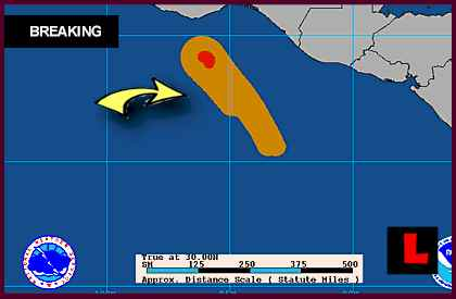 Hurricane Carlotta Threatens Acapulco, Mexico Today projected path