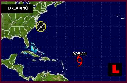 Tropical Storm Dorian 2013: Hurricane Center Projected Path Revised
