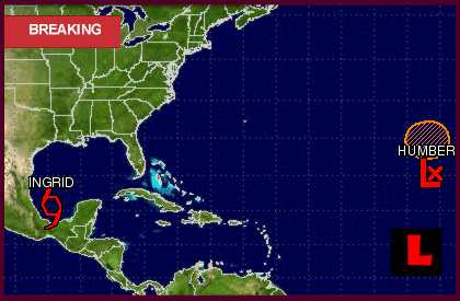 Hurricane Ingrid 2013: Huracán Ingrid Prompts Mexico Projected Path