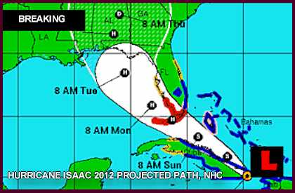 Hurricane Isaac 2012 Tracking projected Path Prompts Florida Keys, Miami Warnings