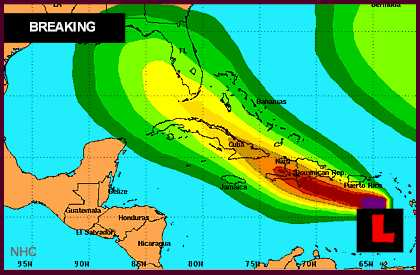 Hurricane Isaac 2012 projected Path Puts Puerto Rico, Dominican Republic on Alert