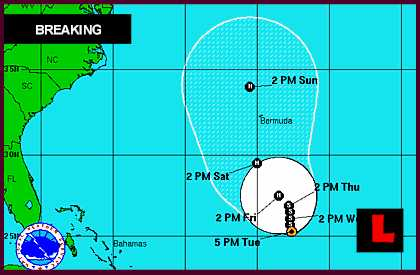 Hurricane Leslie 2012 Projected Path Delivers Florida Swells