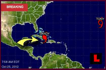 Hurricane Sandy Path Draws Miami Attention tracking projected path 2012
