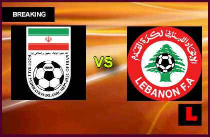 Iran vs. Lebanon 2013 Delivers Qualification Match en vivo live score results today