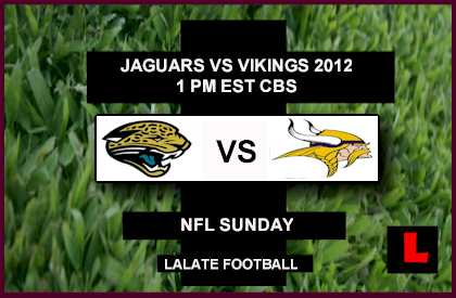 live score Jaguars vs Vikings 2012: Adrian Peterson will Start
