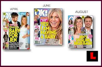 Jennifer Aniston Magazine Covers - Having Baby, Stealing Brad Back