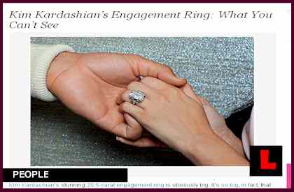 Kim Kardashian Engagement Ring Scandal Erupts