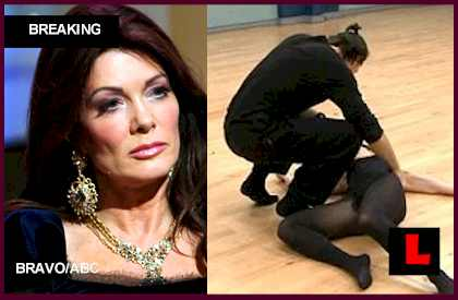 did Lisa Vanderpump Fake Fainting faint on Dancing with the Stars