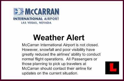 Las Vegas Airport McCarran Airport SNOW