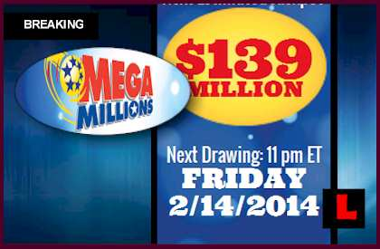 Mega Millions Winning Numbers Results February 14 Surge to $139M