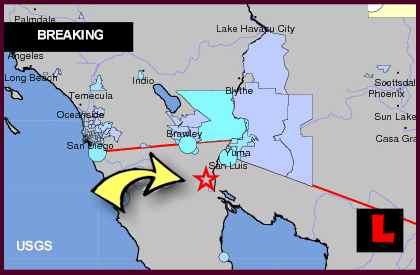 Mexico Earthquake, Terremoto, Today Felt in California, Arizona