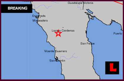 Mexico Earthquake Today 2013 Erupts in Baja California