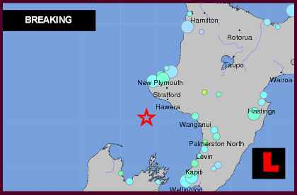 New Zealand Earthquake Today 2012 Strikes Opunake