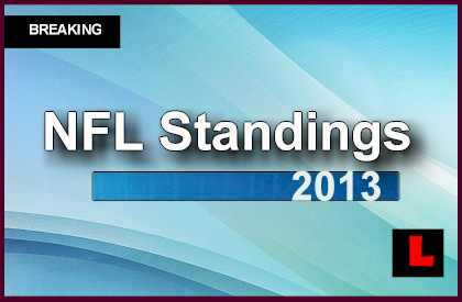 NFL Standings 2013: Current Rankings Reveal NFL Playoff Picture football