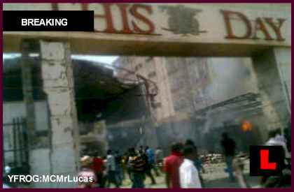 ThisDay Nigeria Newspaper Bomb Explosion Strikes The Moment, The Daily Sun