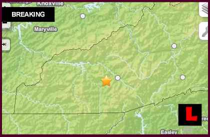 North Carolina Earthquake Today 2013 Hits Near Tennessee