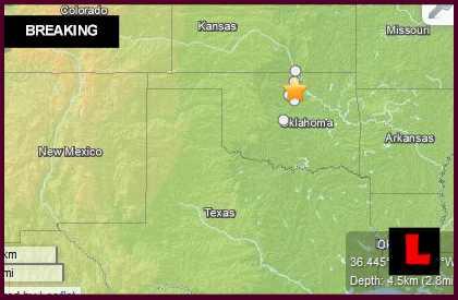 Oklahoma Earthquakes Today 2014 Strike Perry, Helena