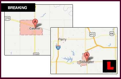 Oklahoma Fire Maps Expand as Calumet, Stillwater Wildfires Spread