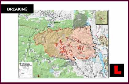 High Park Fire Map.High Park Fire Containment Updated In New Colorado Wildfires Map
