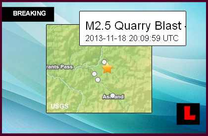 Oregon Earthquake Today 2013? Quarry Blast Prompts Confusion
