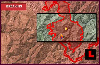 Oregon Fire Map 2013: Labrador, Big Windy Fires Spread Today
