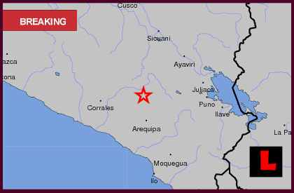 Peru Earthquake Today 2013 Strikes Southern Region