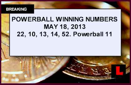 Powerball May 18, 2013 Winning Numbers Tonight Prompt Record Results