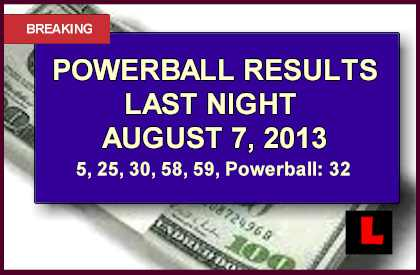 Powerball Results for Last Night: August 7 Numbers Won in NJ, MN winning numbers did anyone win