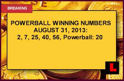 Powerball Winning Numbers August 31, 2013 Tonight Surge Results