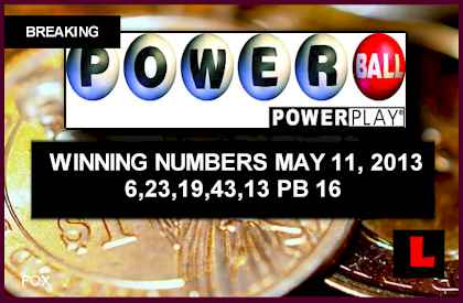 Powerball Winning Numbers May 11 2013 Tonight Prompts Massive Draw