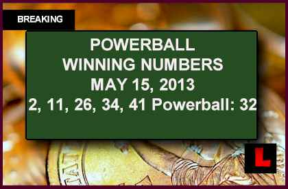 Powerball May 15, 2013 Winning Numbers Tonight Prompt Near Record