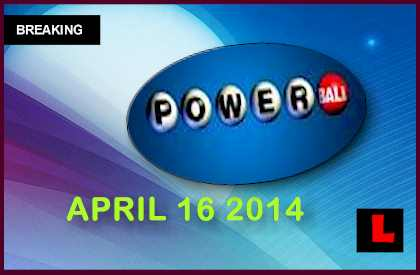 Powerball Winning Numbers April 16, 2014 4/16/14 Results Tonight Released