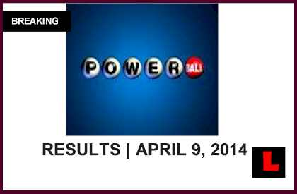 Powerball Winning Numbers April 9, 2014 4/9/14 Results Tonight Released